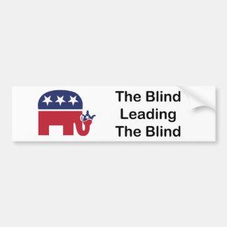 Blind Leading Blind Sticker Bumper Stickers