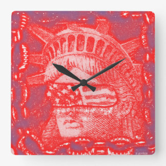 blind Liberty Square Wall Clock
