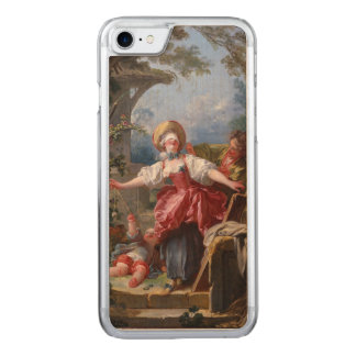 Blind-Man's Bluff by Jean-Honore Fragonard Carved iPhone 8/7 Case