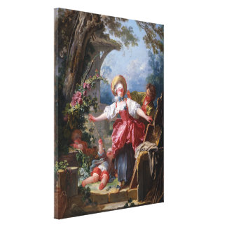 Blind-Man's Bluff by Jean-Honore Fragonard, Large Canvas Print