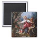 Blind-Mans Bluff by Jean-Honore Fragonard 2 Inch Square Magnet