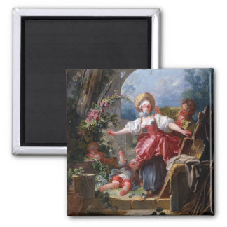 Blind-Mans Bluff by Jean-Honore Fragonard Magnet