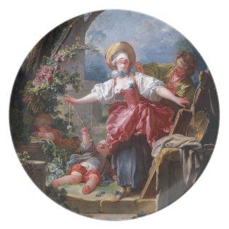 Blind-Mans Bluff by Jean-Honore Fragonard Dinner Plates