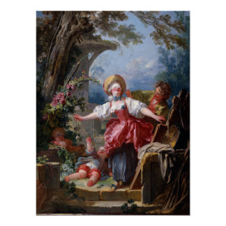 Blind-Mans Bluff by Jean-Honore Fragonard Poster