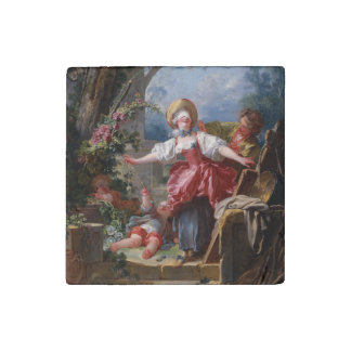 Blind-Man's Bluff by Jean-Honore Fragonard Stone Magnet