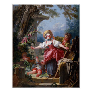 Blind-Man's Bluff by Jean-Honore Fragonard Perfect Poster