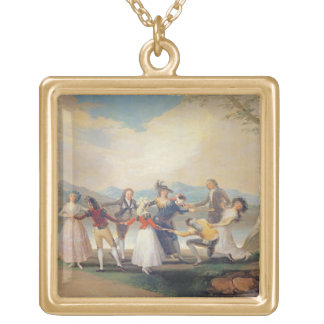 Blind Man's Buff, 1788-9 (tapestry cartoon) (for s Gold Plated Necklace