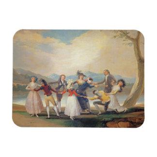 Blind Man's Buff, 1788-9 (tapestry cartoon) (for s Rectangular Photo Magnet