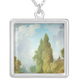 Blind Man's Buff Silver Plated Necklace