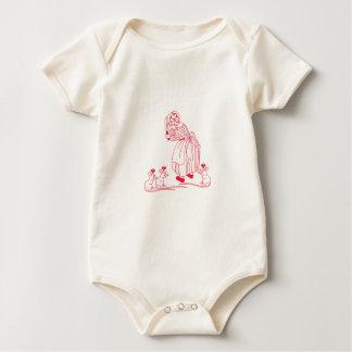 Blind Mice Redwork Baby Bodysuit