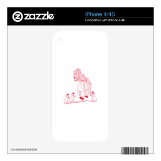 Blind Mice Redwork Decals For iPhone 4