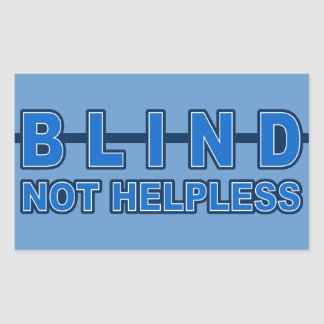 Blind Not Helpless custom stickers