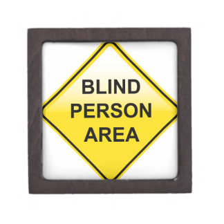 Blind Person Area sign Gift Box