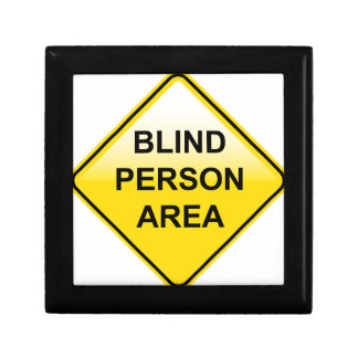 Blind Person Area sign Keepsake Box