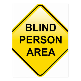 Blind Person Area sign Postcard