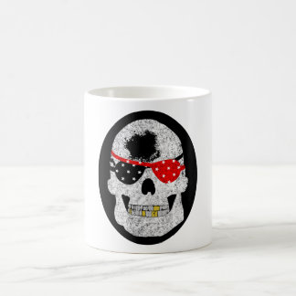 Blind Pirate Skull Coffee Mug