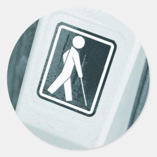 Blind sign design classic round sticker