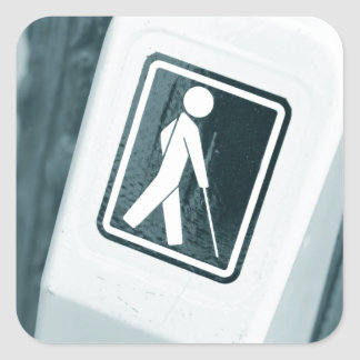 Blind sign design square sticker