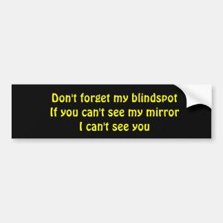 Blind Spot Bumper Sticker