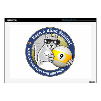 """Blind Squirrel 9-Ball Skin For 17"""" Laptop"""