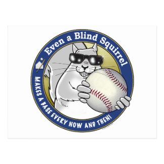 Blind Squirrel Baseball Postcard