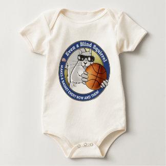 Blind Squirrel Basketball Baby Bodysuit