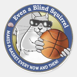 Blind Squirrel Basketball Classic Round Sticker
