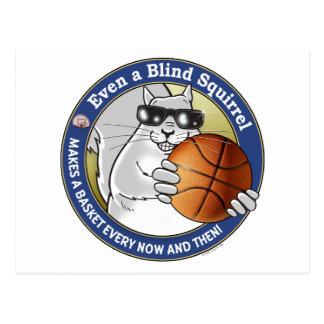 Blind Squirrel Basketball Postcard