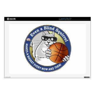 """Blind Squirrel Basketball 17"""" Laptop Decal"""