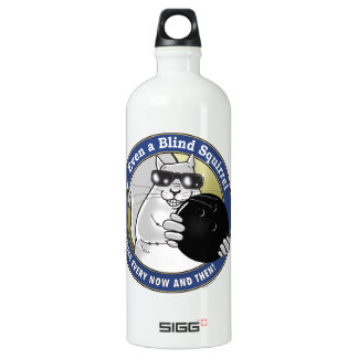 Blind Squirrel Bowling Aluminum Water Bottle