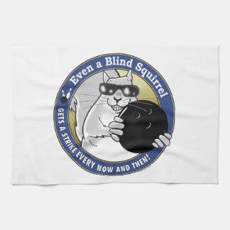 Blind Squirrel Bowling Kitchen Towel