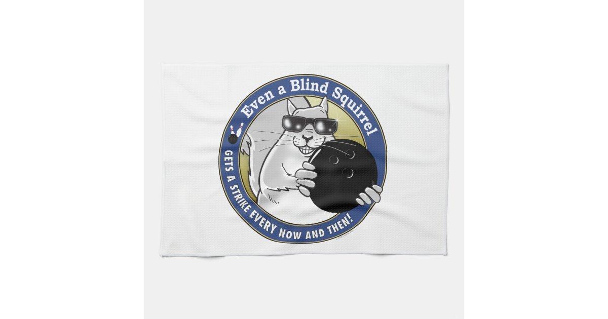 Blind Squirrel Bowling Kitchen Towel Zazzle Com