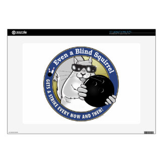 """Blind Squirrel Bowling 15"""" Laptop Decals"""