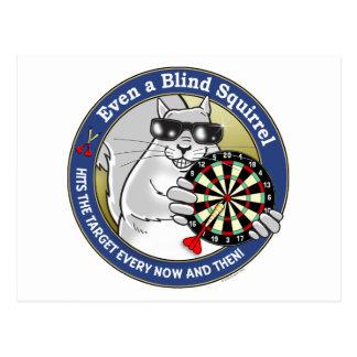 Blind Squirrel Darts Postcard