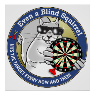 Blind Squirrel Darts Print
