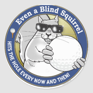 Blind Squirrel Golf Classic Round Sticker
