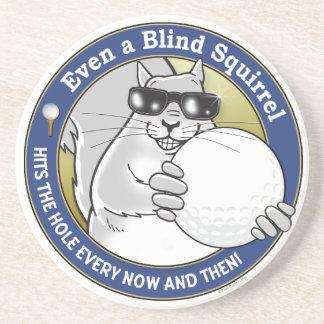 Blind Squirrel Golf Coasters