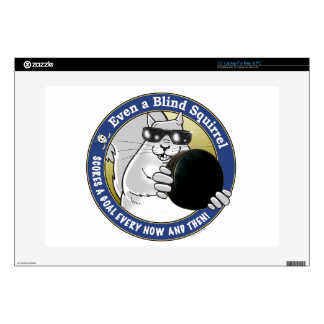 """Blind Squirrel Hockey Decal For 15"""" Laptop"""