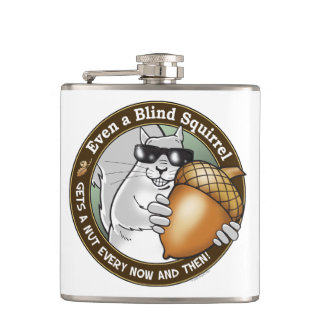Blind Squirrel Nut Hip Flasks