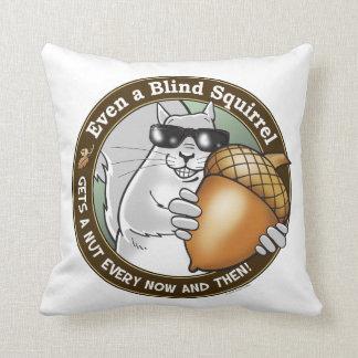 Blind Squirrel Nut Throw Pillows