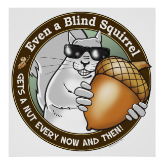 Blind Squirrel Nut Print