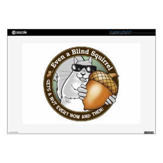 """Blind Squirrel Nut 15"""" Laptop Skin"""