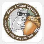 Blind Squirrel Nut Sticker