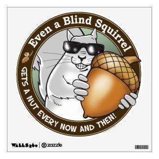 Blind Squirrel Nut Wall Sticker