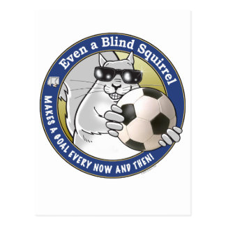 Blind Squirrel Soccer Postcard