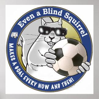 Blind Squirrel Soccer Poster