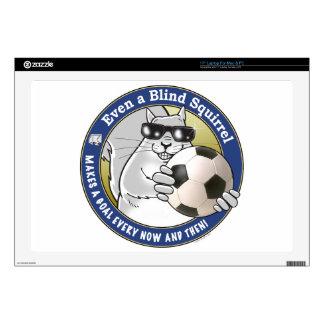 """Blind Squirrel Soccer Skin For 17"""" Laptop"""