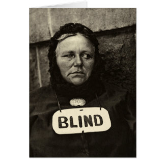 Blind Woman, New York  1917 Card