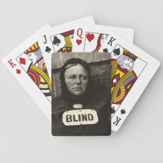Blind Woman, New York  1917 Playing Cards