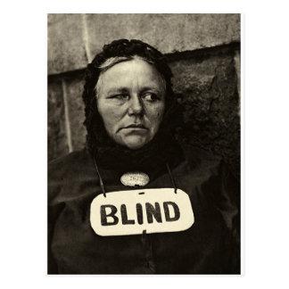 Blind Woman, New York  1917 Postcard